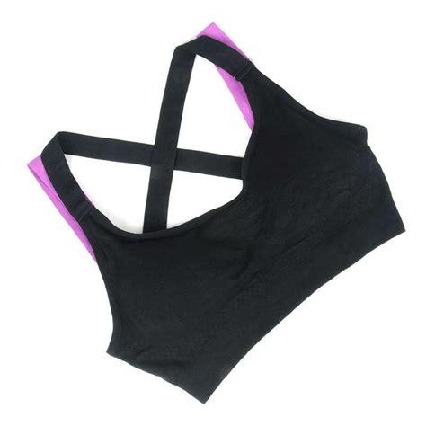 Sports Bra Tali push up sport bra wanita tali silang size l black