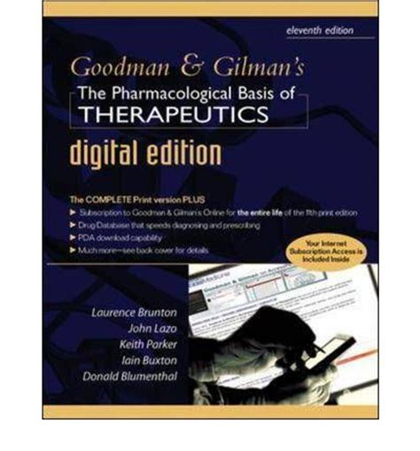 goodman and gilman s the pharmacological basis of therapeutics 13th edition books goodman and gilman s pharmacological basis of therapeutics