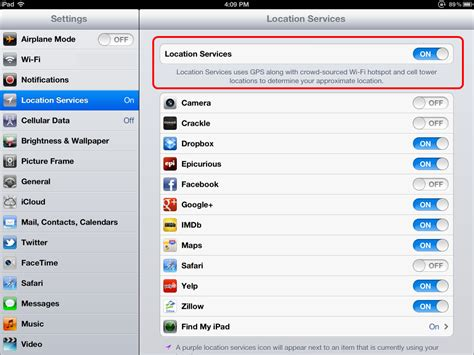 How to Enable Location Services on iPad IphonePedia