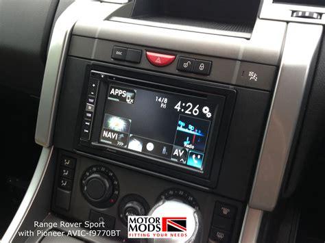 range rover sport sat nav upgrade motor mods gloucestershire uk car satellite navigation