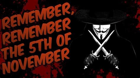 Remember The by Remember Remember The 5th Of November V For Vendetta