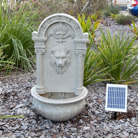 Decorative Outdoor Solar Water Fountains by Solar Powered Decorative Outdoor Wall Feature