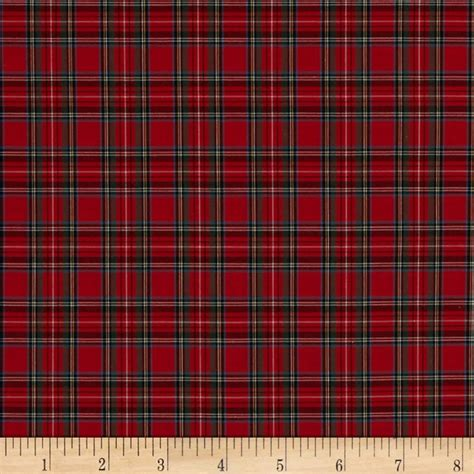 tartan plaid pima tartan plaid shirting red discount designer fabric