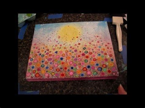 acrylic painting canvas tutorial floral landscape acrylic painting tutorial yvonne coomber