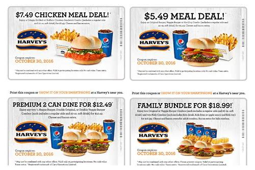 harvey's canada coupons march 2018