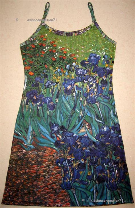 New Naila Dress Vg vincent gogh irises new print dress misses s m l xl by pn ebay