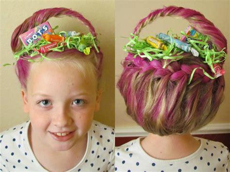 pintrist spring hair fun fashio easter basket hair crazy hair day spirit days