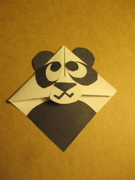 Origami Bookmark Panda - panda bookmark handmade origami bookmarks
