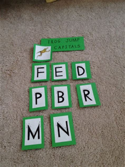 Frog Jump Capital Letters mrs flowers classroom word wall