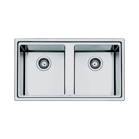 Smeg Kitchen Sinks Smeg Mira 2 0 Bowl Stainless Steel Kitchen Sink In Brushed Finish