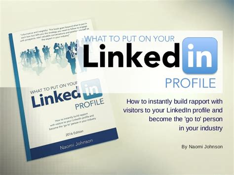 what to put on your linkedin profile by johnson