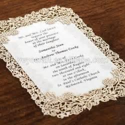 laser cut wedding programs aliexpress buy new fancy wedding decoration beautiful lace menu card invitation card