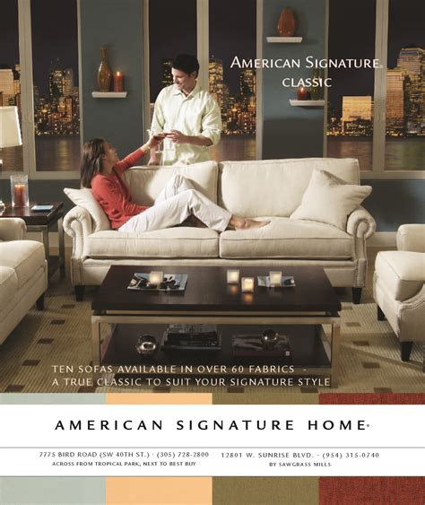 American Furniture Ad by American Signature Value City Furniture Lark Shirley