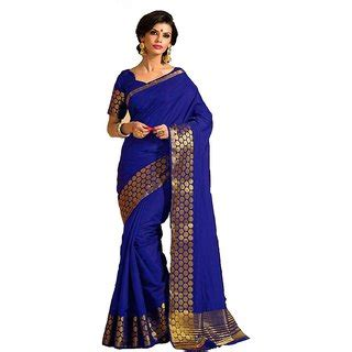 Id 459 Purple Ethnic Blouse indian silk self design saree sari with