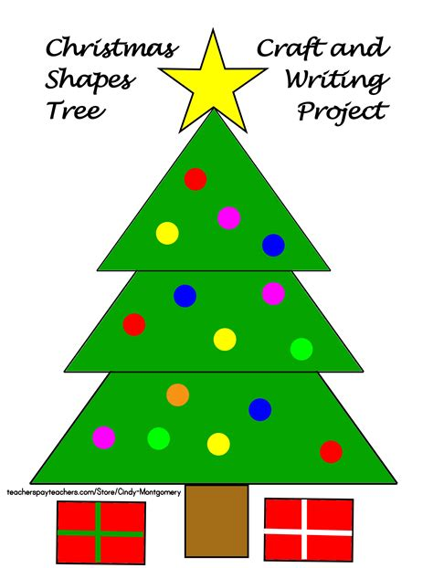 how to shape a christmas tree tree shapes craft and writing project