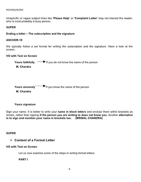 Complaint Letter Subject Line Ix Application And Letter Writing Part 2 07 08 09r
