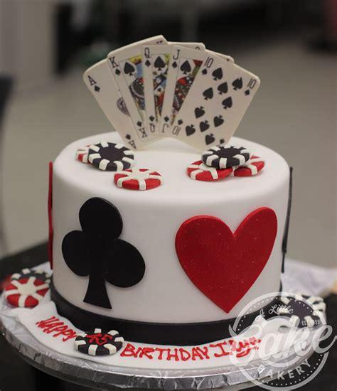 tier casino themed birthday cake