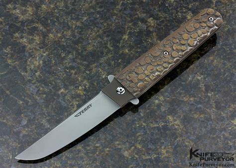 Tom Handcrafted Knives - tom ferry quot radical 194 quot tanto folder w texture tech