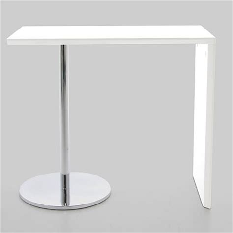 White Breakfast Bar Table Lola White Gloss Bar Table Product Spotlight Danetti Lifestyle