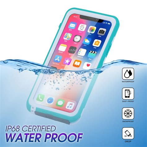 waterproof water shock dirt snow proof protection for iphone xs with touch id