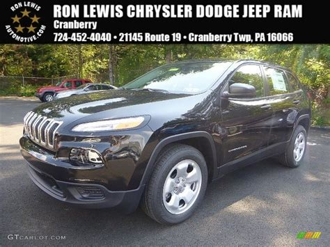 2016 jeep cherokee sport black 2016 brilliant black crystal pearl jeep cherokee sport