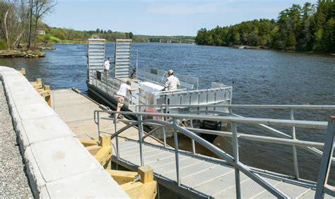 kennebec river boat launches richmond project makes swan island ferry boat launch 100