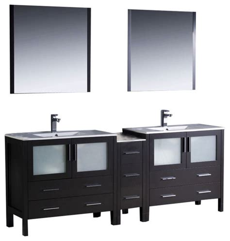 84 Bathroom Vanity 84 Inch Sink Bathroom Vanity In Espresso Espresso Brown Contemporary
