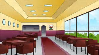 Red Walls In Dining Room - interior of a very posh restaurant cartoon clipart vector toons