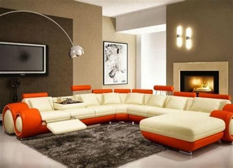Warna Putih Orange desain ruang tamu warna putih dan orange