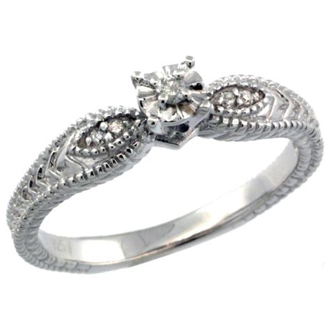 antique silver engagement rings wedding promise