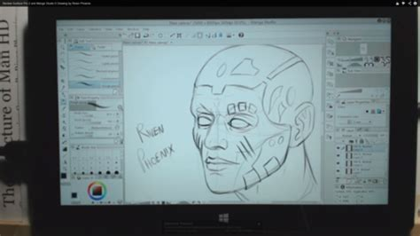 sketchbook pro yiynova tutorial drawing a in studio on the