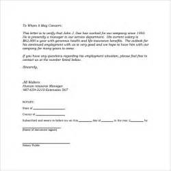 Employment Verification Letter Pdf Sample Employment Letter 13 Free Documents In Word Pdf