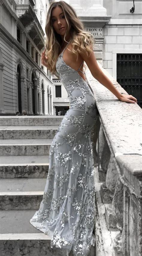 einzigartig abendkleider glitzer lang aermel abendkleid