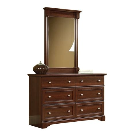 Palladia Dresser by Sauder Palladia 6 Drawer Dresser And Mirror Set In Cherry