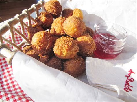 southern hush puppies southern hush puppies with pepper jellies as dipping sauces