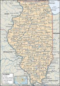 Map Of Illinois With Cities by State And County Maps Of Illinois