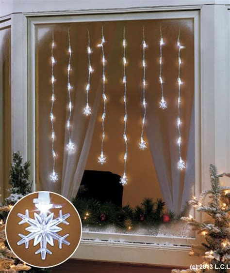 56 quot led snowflake window icicle lights in stock holiday