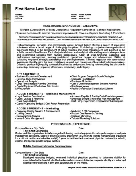 Resume Template Healthcare by Health Care Management Executive Resume Template Premium