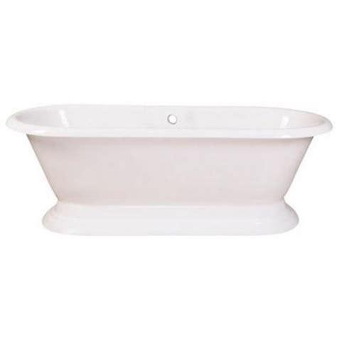 cast iron bathtubs home depot aqua eden 6 ft cast iron double ended pedestal tub in