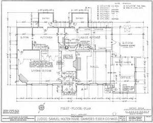 floor plan dimensions file judge samuel holten house first floor plan jpg