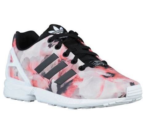shoes adidas floral pink white black wheretoget
