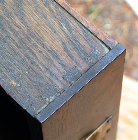 Dovetail Drawer Construction by Voorhees Craftsman Mission Oak Furniture Charles Limbert