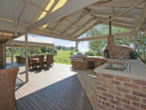 Outdoor living design with bbq area from a real australian home