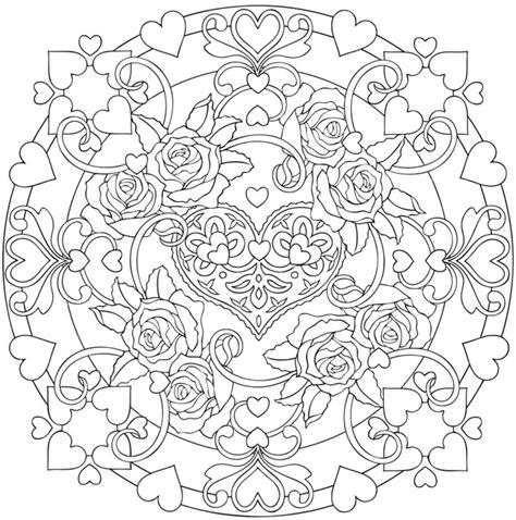 mandala coloring pages roses free coloring pages of mandala