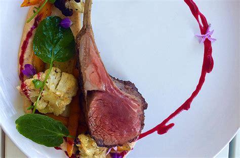 pan seared rack of lamb recipe pan seared rack of lamb with summer vegetables the juice club w