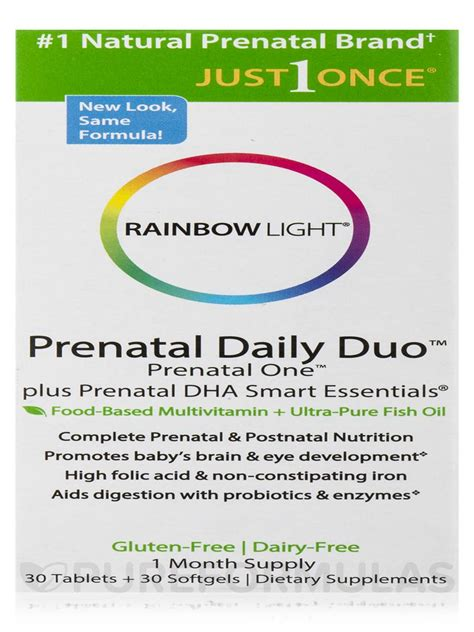 rainbow light prenatal daily duo prenatal daily duo two 30 count