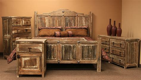 von furniture minimized white wash rustic bedroom set