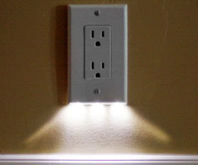 lighted switch plate cover automatic illuminated outlet cover easily add some