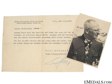 Ss Signature ss generalleutnant h o gille signature