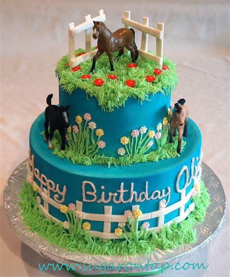 Horse Themed Birthday Cake   Cake Pictures